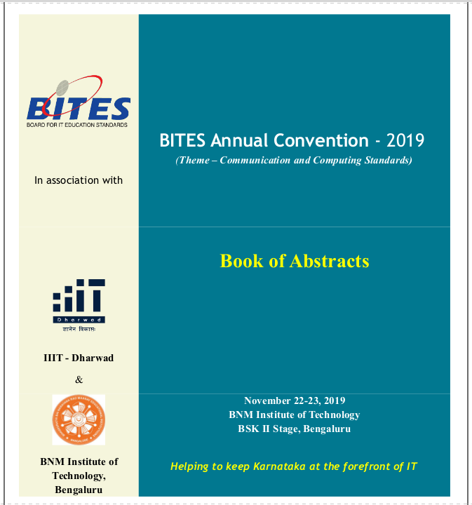 Book of Abstracts, BITES Annual Convention 2019