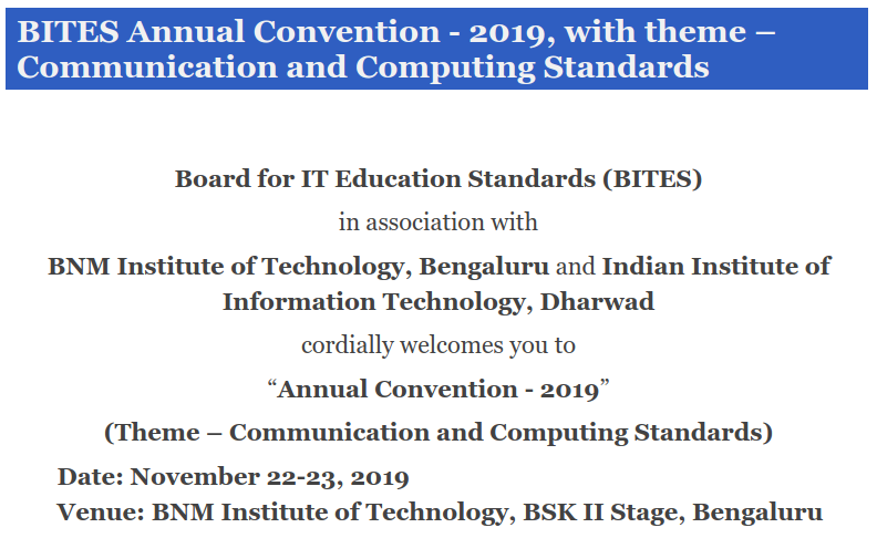 BITES Annual Convention - 2019